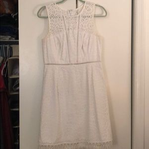 White sleeveless Lily Pulitzer dress.